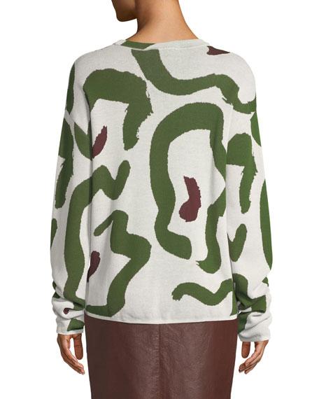 Kaori Jacquard Pullover Sweater