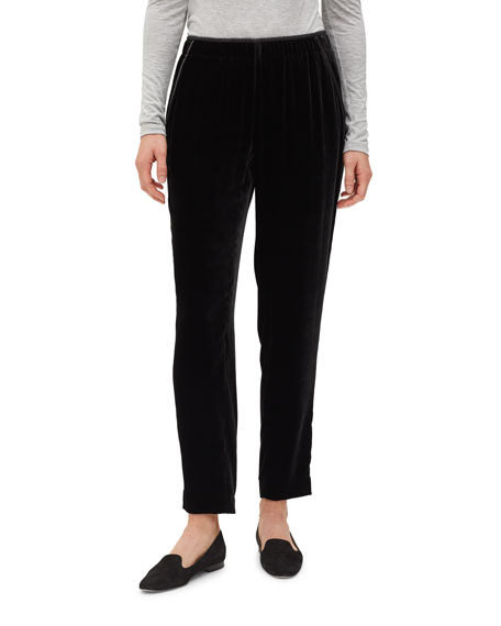 Lafayette 148 New York Velvet Track Pants with