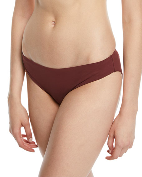 Solid Hipster Bikini Swim Bottom