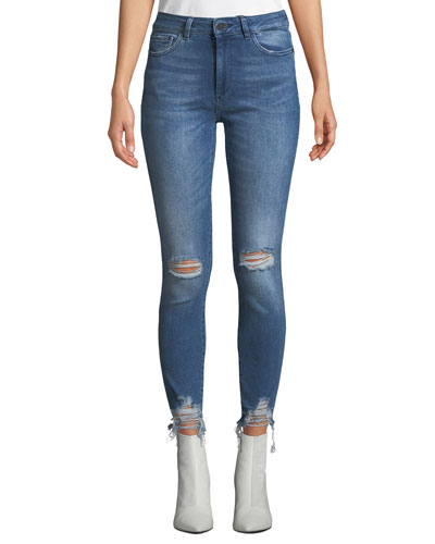 Farrow High-Rise Distressed Ankle Skinny Jeans