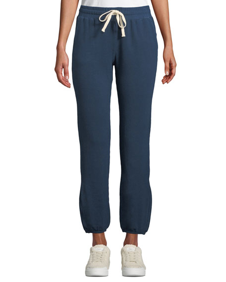 Monrow Super-Soft High-Waist Straight-Leg Ankle-Length Sweatpants