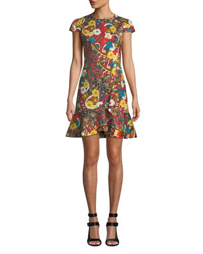 Kirby Ruffle Short-Sleeve Dress