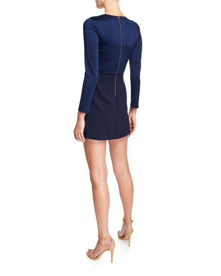 Evette V-Neck Asymmetrical Dress