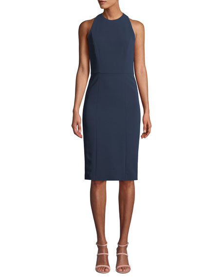 Alice + Olivia Cora Fitted Sleeveless Dress