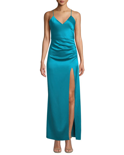 Fallon Ruched Sleeveless Gown