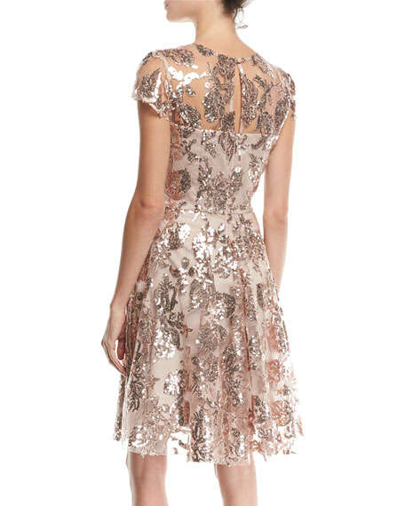 Meg Sequin Embroidered Tulle Dress