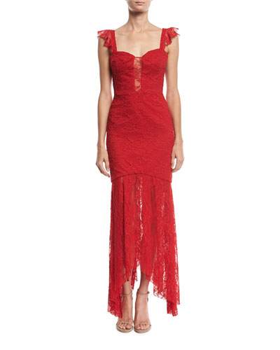 Melissa Italian Stretch Lace Body-Con Gown