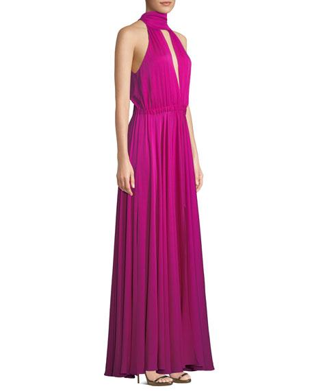 Emma Tie-Neck Sleeveless Gown