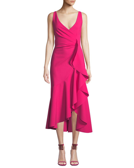 Chiara Boni La Petite Robe Flounce-Ruffle Sleeveless Dress