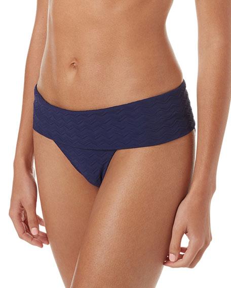 Melissa Odabash Brussels Metallic-Striped Luxe Swim Bikini
