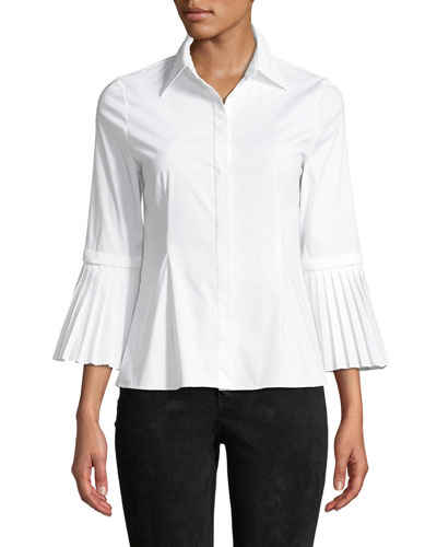 Toro Button-Down Top with Removable Pleated Cuffs