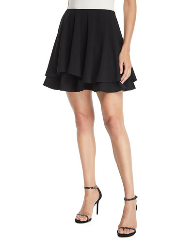 Alva Asymmetric Layered Flare Skirt