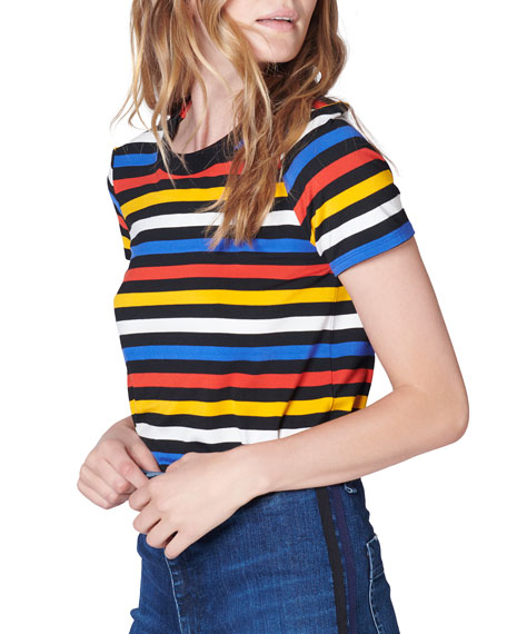 Rush Striped Crewneck Tee