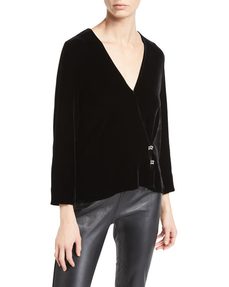 Orion Velvet Long-Sleeve Top