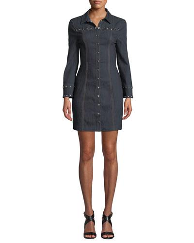 Katia Studded Snap-Front Dress