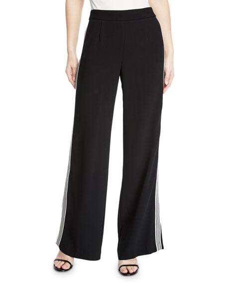 Nanette Lepore Boogie Wide-Leg Trouser Pant with Striped