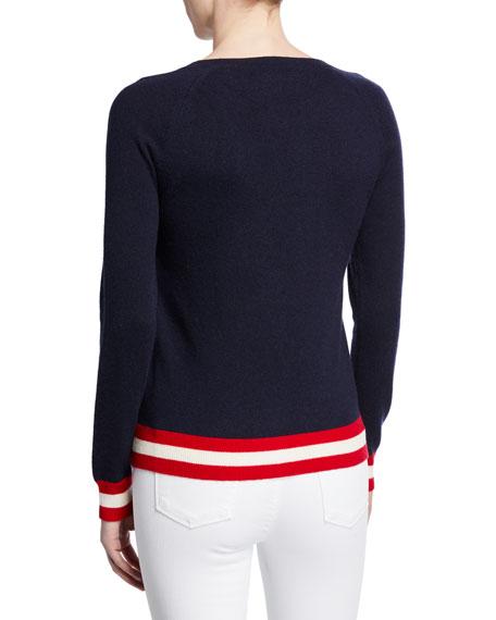 Ski Ya Later Striped Wool-Cashmere Sweater