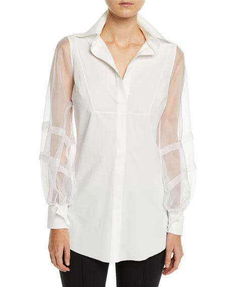 Chiara Boni La Petite Robe T-shirts BAYDA ORGANZA-SLEEVE SHIRT