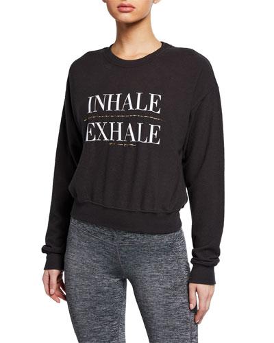 Inhale Malibu Graphic Crewneck Sweatshirt