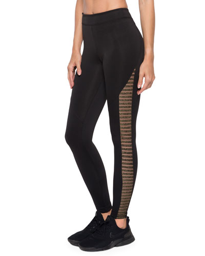 Chameleon High-Rise Metallic Scuba Leggings