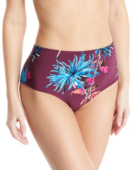 Diane von Furstenberg New Cheeky High-Waisted Floral Swim