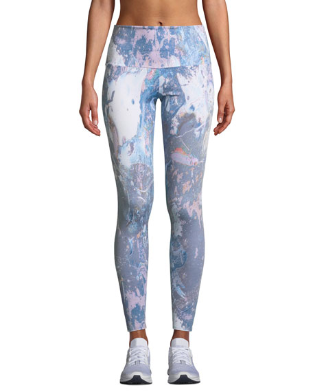 Onzie Printed High-Rise Performance Leggings