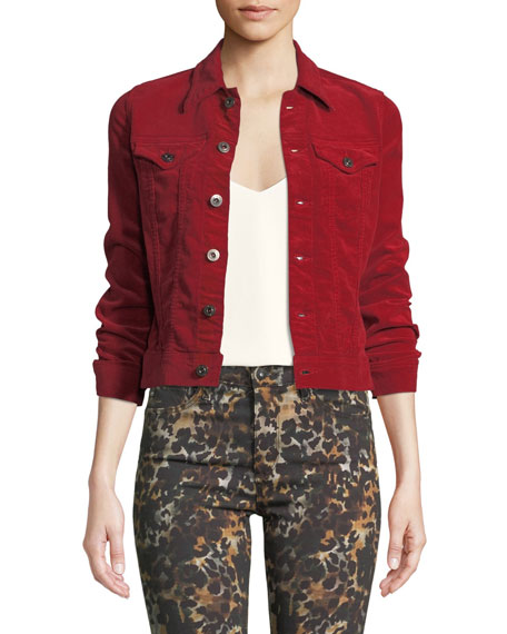 Ag ROBYN BUTTON-FRONT CORDUROY JEAN JACKET