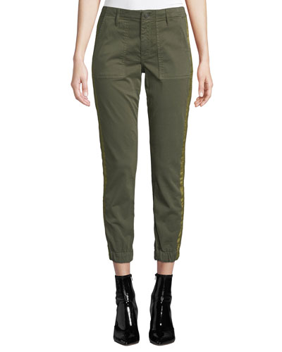 Noel Cropped Military Jogger Pants