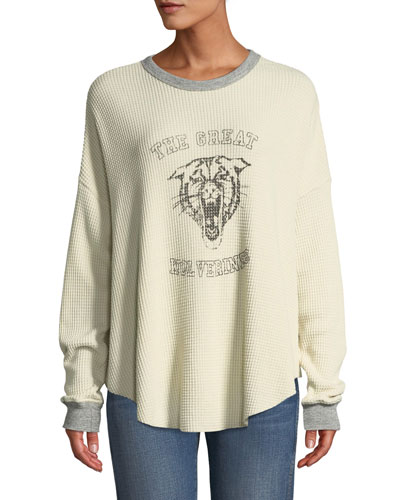 The Circle Thermal Graphic Long-Sleeve Sweater