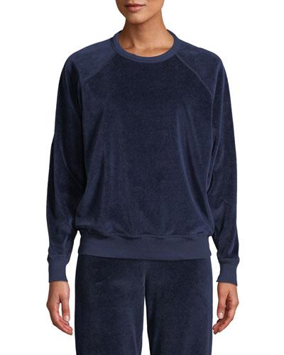 The Velour College Sweatshirt