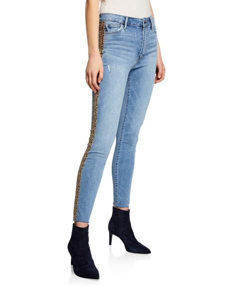 Joe's Jeans The Charlie Ankle Skinny w/ Leopard