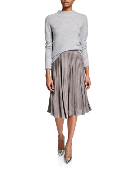8525dd8b4e Club Monaco Tilli Pleated Metallic Pull-On Skirt