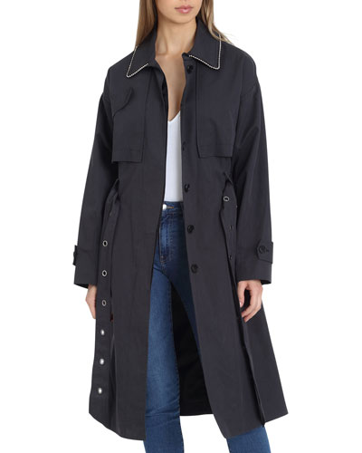 Brooke Cotton Utility Trench Coat