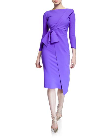504bef7e27d Chiara Boni La Petite Robe Gurli Bateau-Neck 3 4-Sleeve Asymmetric Flap  Dress