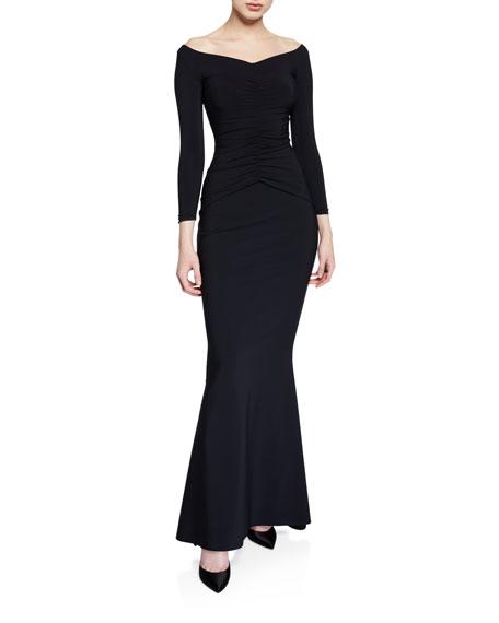 Chiara Boni La Petite Robe Siviliana Off-the-Shoulder Ruched