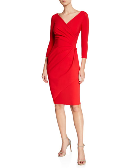 Charisse 3/4-Sleeve Bodycon Cocktail Dress