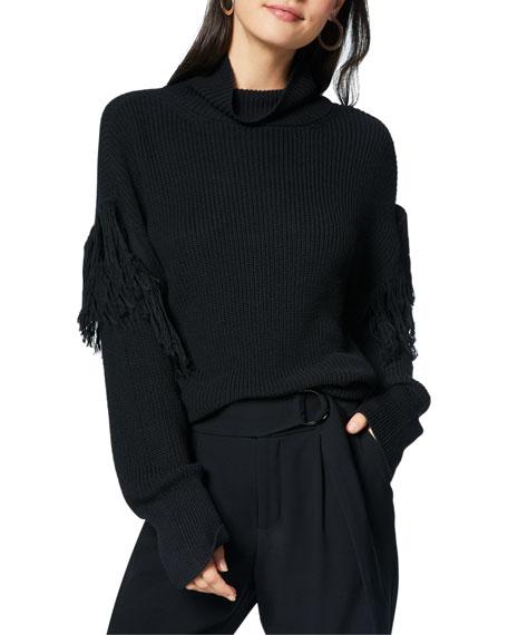 Grayson Fringe Turtleneck Sweater