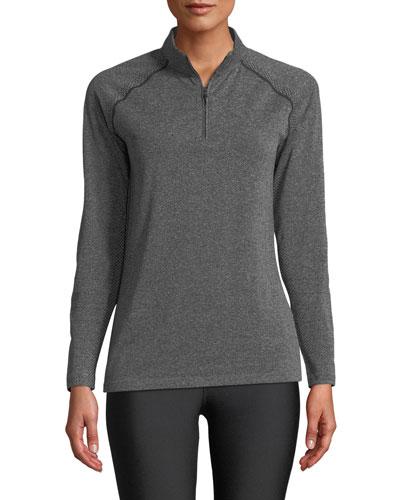 Vanish Seamless Quarter-Zip Pullover Top