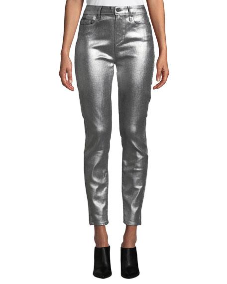 Verdugo Ultra Skinny Metallic Ankle Jeans