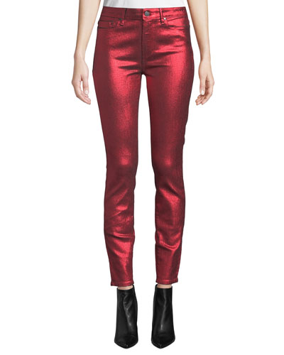 Hoxton Ultra Skinny Metallic Ankle Jeans
