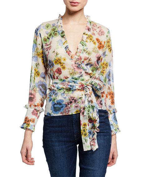 Alexis Missie Floral Long-Sleeve Wrap Top