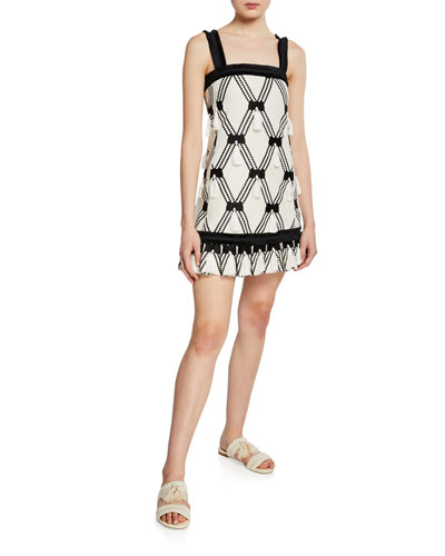 Bijou Tassel Sleeveless Short Dress