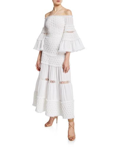 Guinevere Off-Shoulder Tiered Long Dress