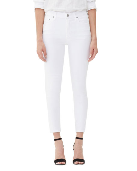 Citizens of Humanity Rocket Crop High-Rise Skinny Jeans,