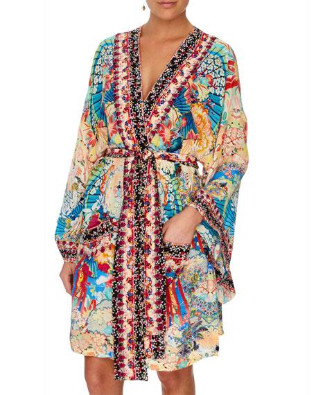 Camilla Miso in Love Silk Kimono Coverup with