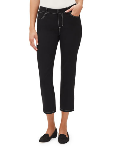Mercer Cropped Pant w/ Contrast Topstitching