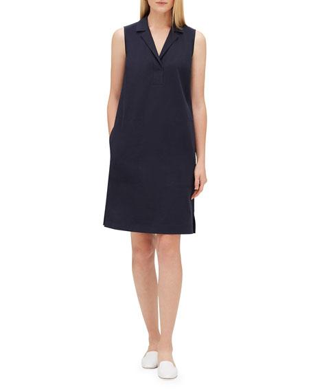 Lafayette 148 New York Kit V-Neck Sleeveless Dress