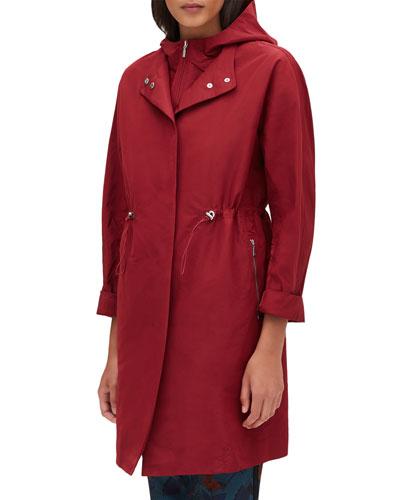 Maverick Empirical Tech-Cloth Coat w/ Zip-Out Hoodie