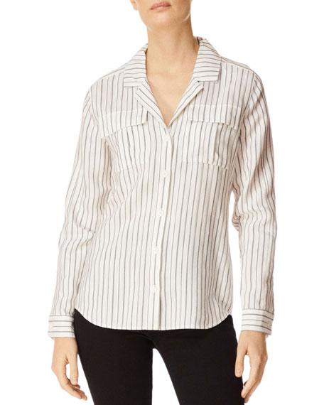J Brand Peyton Striped Button-Down Utility Shirt w/
