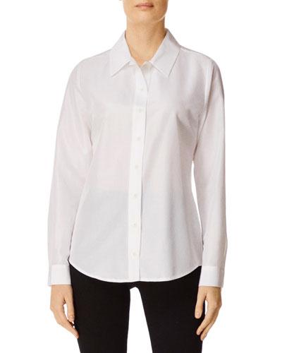 Elena Button-Front Long-Sleeve Shirt